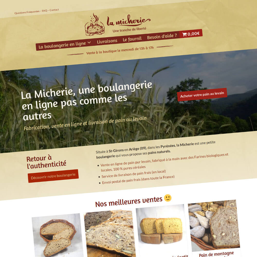 La Micherie : Refonte du site Internet e-commerce