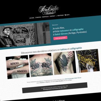 Fond Noir Tattoo : Refonte du site Internet portfolio & e-commerce