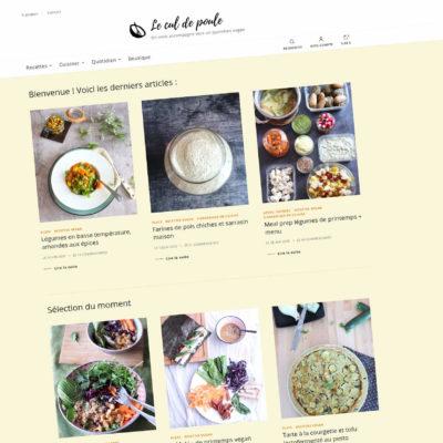 Le cul de poule : Refonte du site Internet blog & e-commerce