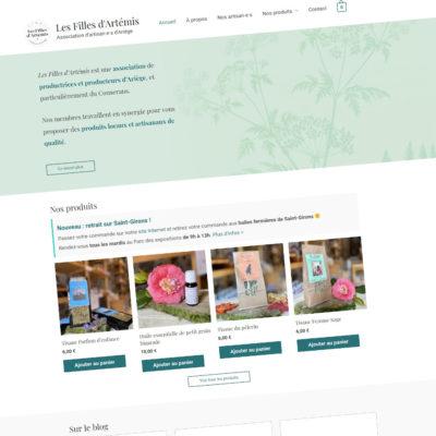 Les Filles d'Artémis : Création du site Internet e-commerce